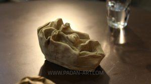 صورتک گلی ساخته شده توسط نصرالله رادش