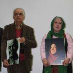 ابوالحسن تهامی نژاد و زهره شکوفنده در مراسم پاسداشتی که برای آنها برگزار شد.