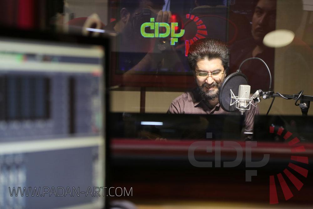امیرحسین مدرس در استودیو پادان