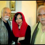 از راست به چپ: ناصر ملکمطیعی٬ پرستو صالحی و چنگیز جلیلوند
