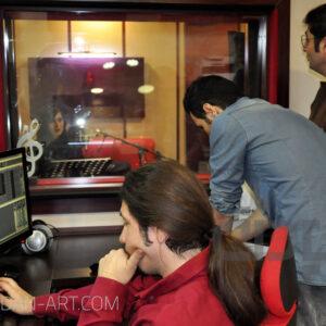 مهتاب کرامتی در استودیو موسیقی پادان