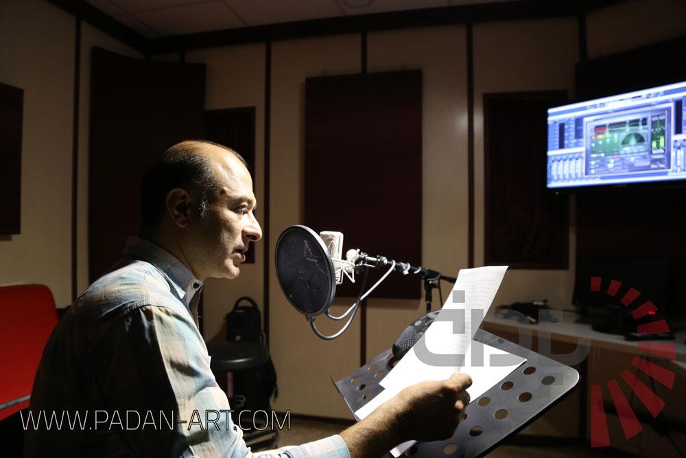 منوچهر زنده دل در استودیو پادان