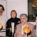 از راست به چپ: مریم شیرزاد٬ بهرام زند٬ مینو غزنوی و کیکاووس یاکیده