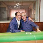 بهمن هاشمی در کنار ابوالحسن تهامینژاد (منبع: اینستاگرام)