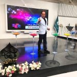 بهمن هاشمی ٬ مجری پخش زنده قرعهکشی چای میعاد