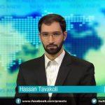 حسن توکلی در حال گویندگی در کانال Press TV