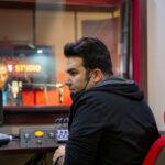 محمدرضا حیاتی در استودیو پادان